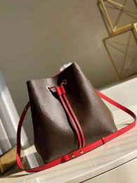 drawstring leather bags women Canada - M44020 M44021 NEONOE BUCKET BAG Canvas Handbag Totes Drawstring Closure Top Quality 5A MM Fashion Shoulder bag Women real leather Cross Body