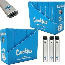 Großhandel Cookies Einweg-Vape-Stift-Gerät-Pods Hohe FYLERS-Verpackung wiederaufladbare 240mAh-Batterie 1ml Delta 8 E Zigaretten Vapes Pod dicke Öldampfer-Stifte Snap-On-Tipps