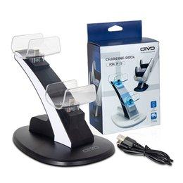 Dobe LED充電器クレードルスタンド要素軽量ゲームパッドドックPS5 PS4スリムプロジョイスティックワイヤレスBluetoothゲームコントローラデュアルUSB充電ステーション