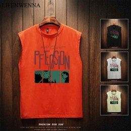 new trend mens t shirts Canada - Summer Men's Sleeveless T Shirt New Fashion Letter O Neck Sleeveless T Shirt Mens Clothing Trend Casual Top Tees Men M-5XL 210323