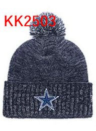 Barato Beanies Dos Vaqueiros-hot sale 2017 Cowboys beanie Men Cool Women Dallas Sport beijos de inverno quente com pompa Caps Hats Aceite Drop ship
