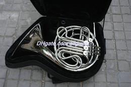 Venta al por mayor de Venta al por mayor de 4 llaves Doble Cuerno francés Laca de plata F / Bb Cuerpo de latón con caja Envío gratis