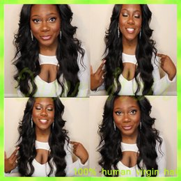 Ombre Auburn Wigs Black Women NZ - Full Lace Human Hair Wigs Malaysian Virgin Hair Body Wave charming Hair Product Lace Front Wigs 10-26For American Black Women