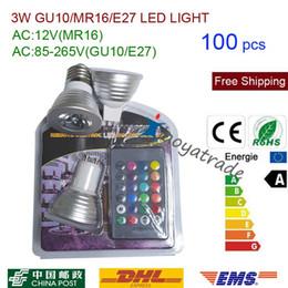 $enCountryForm.capitalKeyWord NZ - 100pcs 3W E27 GU10 RGB LED Bulb 16 Color Change Lamp Spotlight AC85-265v for Home Party Decoration with IR Remote( MR16 12V )
