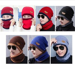 $enCountryForm.capitalKeyWord UK - Hot Sale Mask hat with scarf Fashion Winter Spring Sports Beanies Casual Knitted Hip Hop hats free Shipping