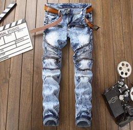 2178e5d521 5xl Snow Pants Canada - Top Fashion Snow Wash Jeans Zipper Pocket Design  Mens Denim Biker