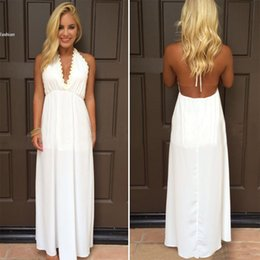 Long v dress for sale