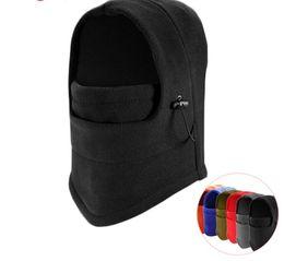Thermal Fleece Balaclava Hat Hood Ski Bike Wind Stopper Face Mask Men Neck Warmer Winter Fleece Neck Helmet Cap on Sale