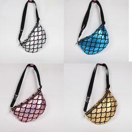 $enCountryForm.capitalKeyWord Canada - Multifunction Mermaid Printed Handbag Fish scales shaped Waist bag Evening Party Clutch Bag Wallet Purse Shoulder Pocket