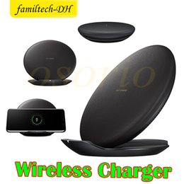 Charger Samsung Quality NZ - 2018 New OEM Fast Wireless Charger For Samsung Galaxy s8 s8 Plus s7 s7 edge S6 S6 Edge+ S6 Edge note5 Nero High Quality DHL Free shipping