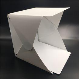 Venta al por mayor de Caja de luz plegable portátil de la caja de la fotografía del estudio de la caja de luz de la caja de luz del iPhone para el fondo de la foto de la cámara de Samsang HTC DSLR