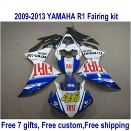 $enCountryForm.capitalKeyWord Canada - 7 free gifts fairing kit for YAMAHA R1 2009-2013 white black blue fairings set YZF R1 09 10 11 12 13 HA57