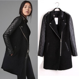 Leather Wool Coat | Fashion Women's Coat 2017