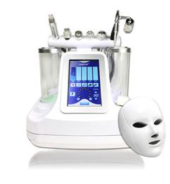 5,6,7,8 em 1 bio rf martelo frio hydro microdermabrasion hidra dermabrasion spa pele facial máquina de limpeza dos poros da pele