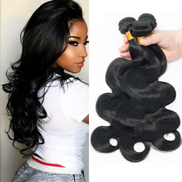 brazilian wavy hair 24 inches NZ - Body Wave Indian Human Hair 3 Bundles Lot Sale Unprocessed Mink Brazilian Malaysian Peruvian Wet And Wavy Cheap Hair Extensions