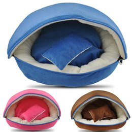 Cat Baskets Beds Canada - 3 Colors Warm Soft Pet Dog Cat Bed Basket House Kennel Doggy Cushion Mat Kennel Doggy Warm Cushion Basket~BT38