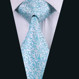 Nuovo arrivo argento floreale cravatte per gli uomini blu piante seta cravatta moda jacquard tessuto classico mens cravatta cravatte di marca D-1129