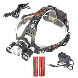 $enCountryForm.capitalKeyWord Canada - Boruit 6000LM 3x XM-L T6 LED Stirnlampe Licht 2x18650 USB EU Ladegerät