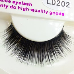 Fur False Eyelashes Canada - High Quality False Eyelashes Handmade Super Natural Long Thick Mink Fur Eyelashes Fake Eye Lash extensions Black Full Strip With Packs LD202
