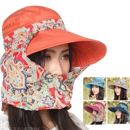 wholesale 2015 newest womens ride outdoor sun uv protection hats chapeu feminino casual canvas large canopies dome floral sun hats large sun canopy on sale - Large Canopy 2015