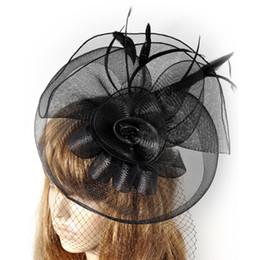 $enCountryForm.capitalKeyWord Canada - large lady women fascinator feather net mesh hair clip accessory handmad gift headwear millinery wedding hat ascot race party