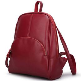 $enCountryForm.capitalKeyWord NZ - 2015 New vintage shoulder student school bag PU leather Black and Brown backpack Brand designer fashion women travel rucksack