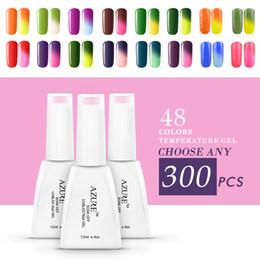 Polish Art Canada - Azure Temperature Nail Gel Polish 300pcs lot Nail Art Soak Off UV LED Lamp Color Changing Gel laucqer Coat Manicure Kits