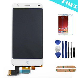 $enCountryForm.capitalKeyWord UK - Wholesale-Original ZTE Blade S6 LCD Display + Touch Screen Digitizer Glass Assembly Replacement For ZTE S6 + Tools +Tempered Glass
