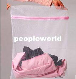 Laundry Basket Nylon Canada - 30*40cm Nylon Mesh laundry bag for Washing bra underwear underpants Care wash Net bag Bra Laundry basket novelty household 500pcs