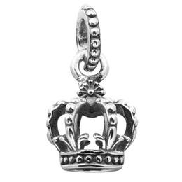 $enCountryForm.capitalKeyWord UK - 100% 925 Sterling Silver Beads Fit Pandora Charms Bracelet DIY Brand Fashion Jewelry Noble Splendor Dangle Crown