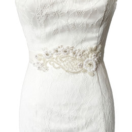 China 2018 S91 Free shipping STOCK Rhinestones Pearls Wedding Belts,Bridal Belts sashes,Bridal Wedding sashes Belts suppliers