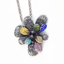 $enCountryForm.capitalKeyWord Canada - Fashion National Retro Style Alloy Pendant Necklace Vintage Flower Sweater Necklace Bohemian Pendant Accessories for Women Clothing