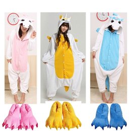 Barato Animal Onesie Adultos-Adulto Kigurumi Animal Dormir Pijama Costume Cosplay Unicórnio Onesie Halloween