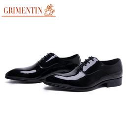Leather Shoes Sale NZ - GRIMENTIN Hot Sale Patent Leather Mens Dress Shoes Italian Fashion Designer Black Men Oxford Shoes Brand Formal Business Wedding Male Shoes