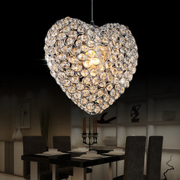 discount modern chandeliers heart crystal heart dining room pendant lamp modern creative bar cafe pendant light - Discount Chandeliers