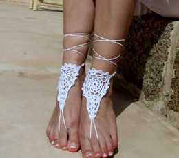$enCountryForm.capitalKeyWord Canada - Lace Sexy Barefoot sandals, crochet barefoot sandles, Vintage Beach Wedding crochet barefoot sandals, jewelry for foot