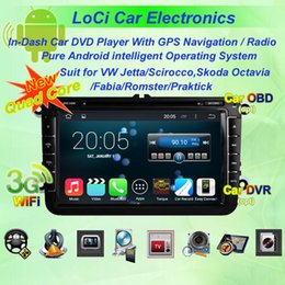 Vw Stereos Android Canada - Car dvd Multimedia radio android player for VW volkswagen Jetta 2006- 2011,autoradio CD, gps navigation,Pure android 4.4.4, Quad Core