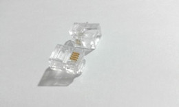 telephone networks 2020 - 100pcs RJ11 Modular Connector Plug Telephone Line Network Cable 6P4C