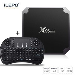 hdmi mouse NZ - X96 mini Smart TV BOX Amlogic S905W Quad Core 1GB 8GB With Air Mouse Keyboard WIFI 2.4GHz Android TV Box