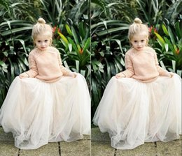 $enCountryForm.capitalKeyWord Canada - 2016 Lovely Baby Girls Tulle Skirts White Princess Tutu Ball Gown Flower Girl Party Dresses For Wedding Cheap Children's Long Skirts