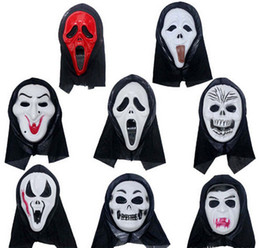 mask stock NZ - halloween mask party scary mask ghost mask face mask scream mask costume Skull Skeleton mask Halloween Costumes masks free shipping in stock