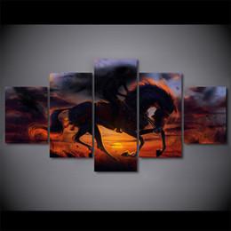 $enCountryForm.capitalKeyWord Australia - 5 Panel HD Printed Framed Deadpool Magic Horse Wall Canvas Art Modern Print Painting Poster Picture For Home Decor