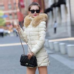 Parkas Women S Outerwear Canada - Hot! Fashion Women Clothes Winter Coat Raccoon Fur Collar Warm Coats Woman Long Outerwear Thicken Parkas Down Jacket For