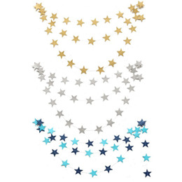 China Wholesale-Hanging Paper Star Garlands 4M Colorful Bunting Home Holiday Birthday Wedding Party Banner Shower Room Door Decoration supplier star room wedding suppliers
