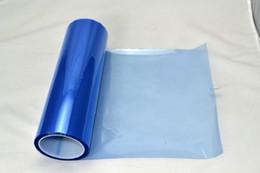 Roll Lights Canada - 0.3*10m roll PVC headlight tint Light Blue for car head decoration Fedex free shipping