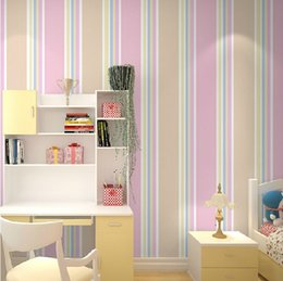 Kids Bedroom Wallpaper Child Girl Stripe Wall Paper Boys Wall Cover Baby  Wallpaper