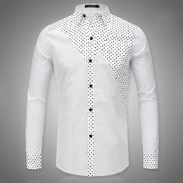 Discount White Black Dotted Shirt Pattern | 2017 White Black ...