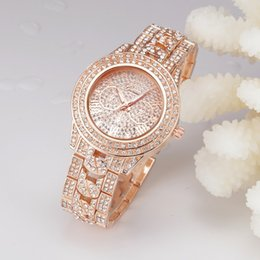 $enCountryForm.capitalKeyWord NZ - Wholesale Free Shipping New Famous Luxury Crystal Dial Bracelet Quartz Wrist Watch Christmas Gift for Ladies Women Gold Rose Gold Silver