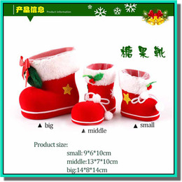 Free Christmas Gifts For Children Australia - 2015 hot selling christmas gift shoes look gift bag candy bag for party supplies for children gift free shipping