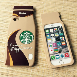 $enCountryForm.capitalKeyWord Australia - 3D Starbuck frappuccino Mocha Coffee Cup Silicone case cover for iPhone 5 5S 6 6Plus 6S 6SPlus Cell phone cases